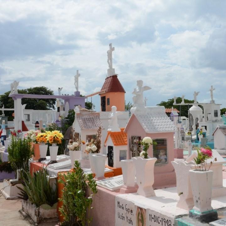Travel with children kids mexico merida cemetery dia de los muertos