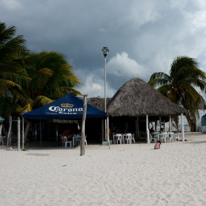 Travel with children kids mexico celestun beach restaurant la playita