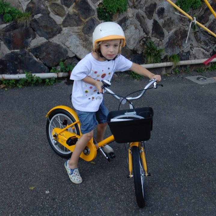 travel with children kids japan tokyo cycling muji bike
