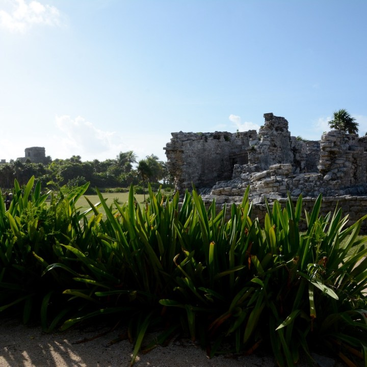 Travel with children kids mexico tulum mayan ruins