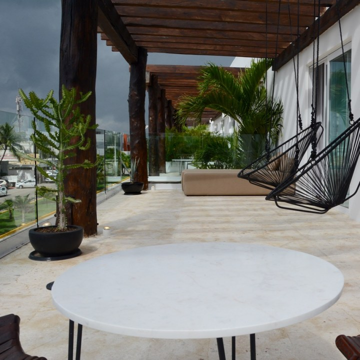 Travel with children kids mexico playa del carmen hotel hm roof terrace