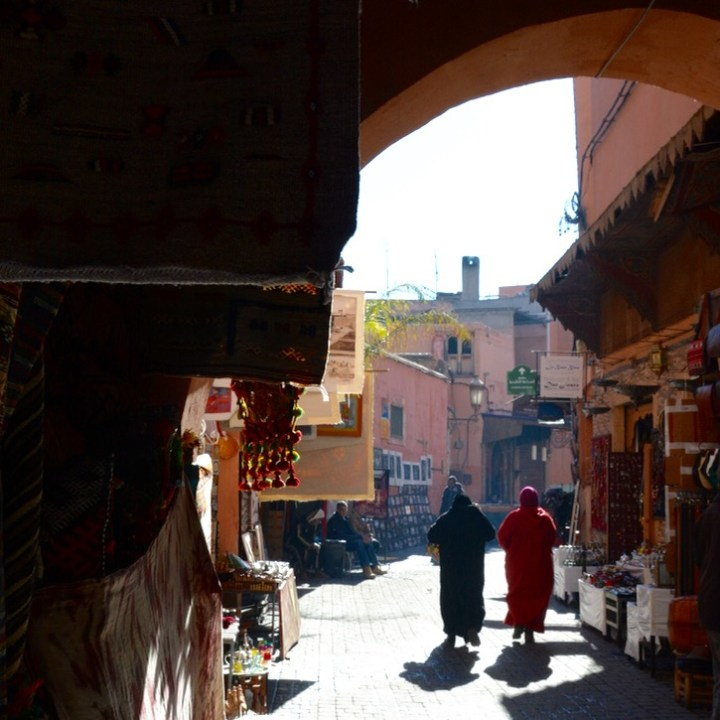 Travel with children kids Marrakesh morocco medina alleys