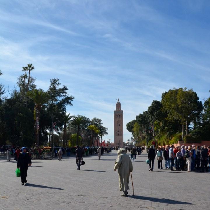 Travel with children kids Marrakesh morocco medina secret garden koutoubia mosque