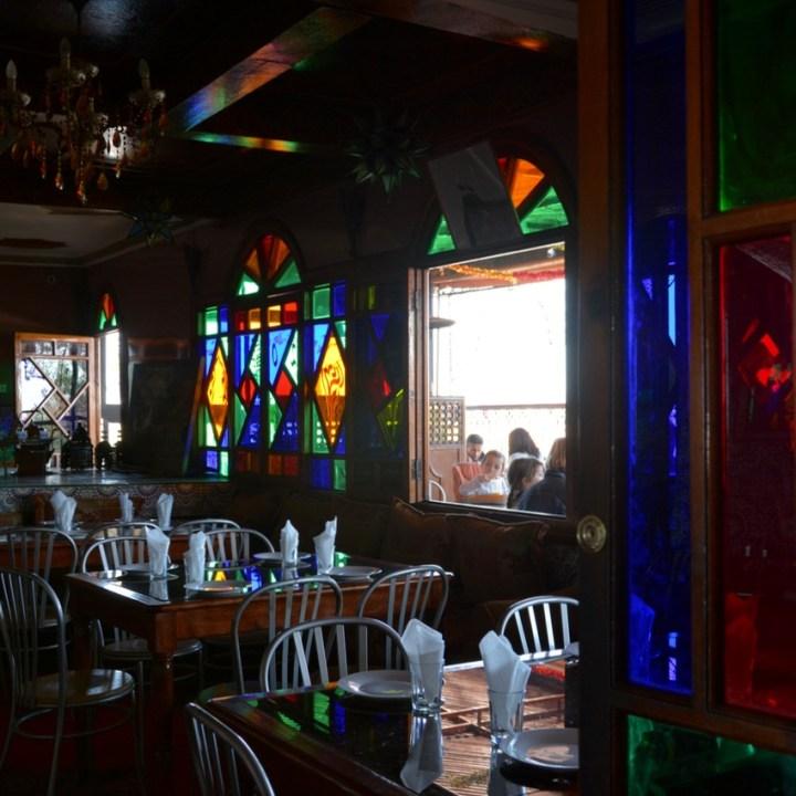 Travel with children kids Marrakesh morocco medina restaurant