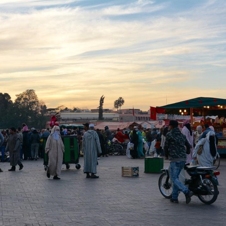Travel with children kids Marrakesh morocco medina jemmy el fna