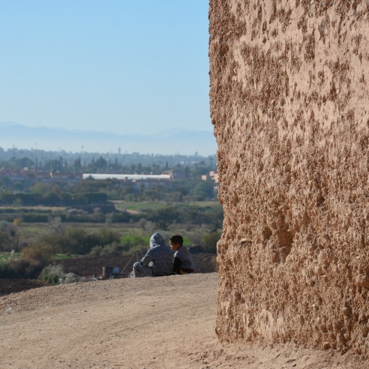 travel with kids children morocco marrakech hotel caravanserai local kids