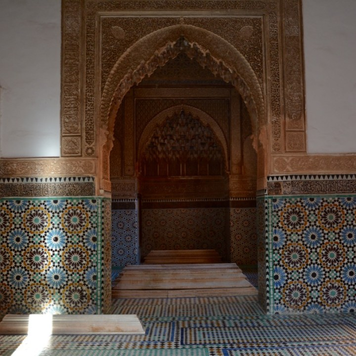 travel with children kids morocco marrakech saadian tombs