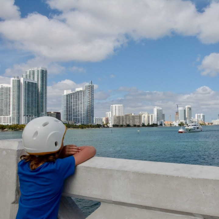 travel with kids children miami south beach bridge downtown miami