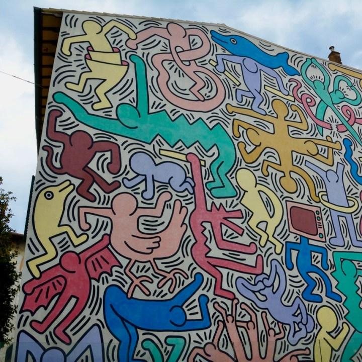 travel with kids children pisa italy keith haring graffiti mural
