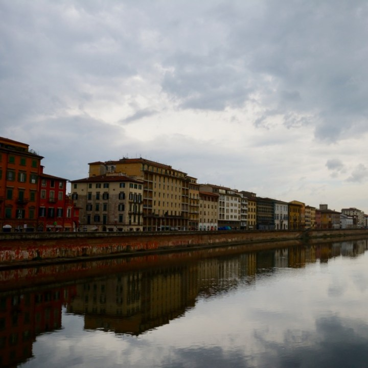 travel with kids children pisa italy river arno