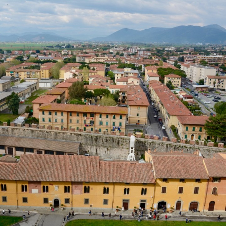 travel with kids children pisa italy leaning tower view