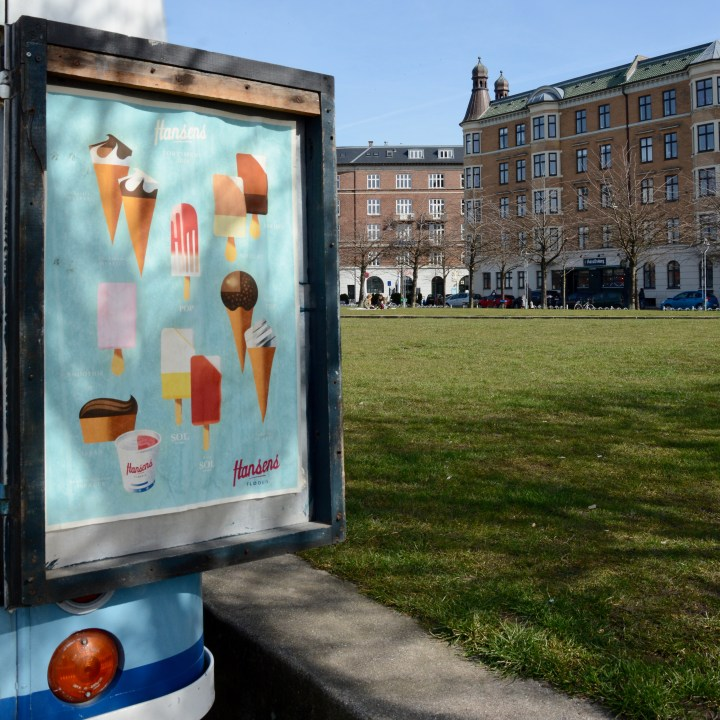 travel with kids children Copenhagen Denmark christianshavn ice cream van