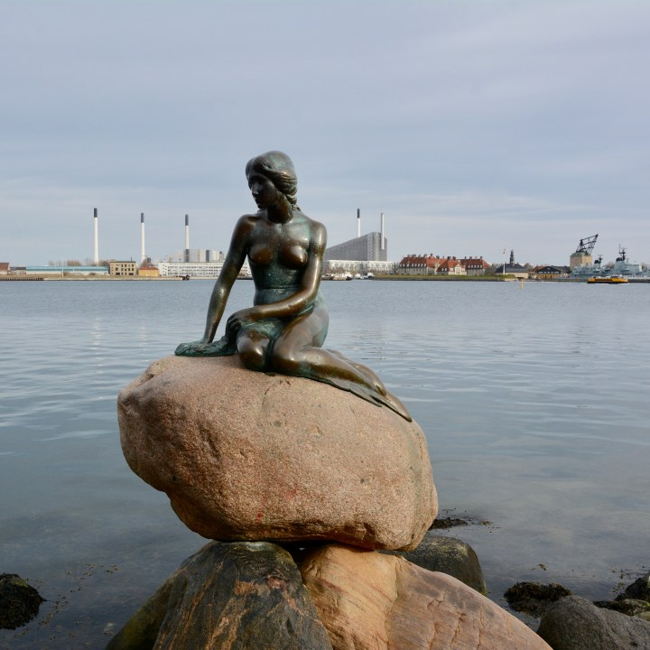 travel with kids children Copenhagen Denmark little mermaid statue