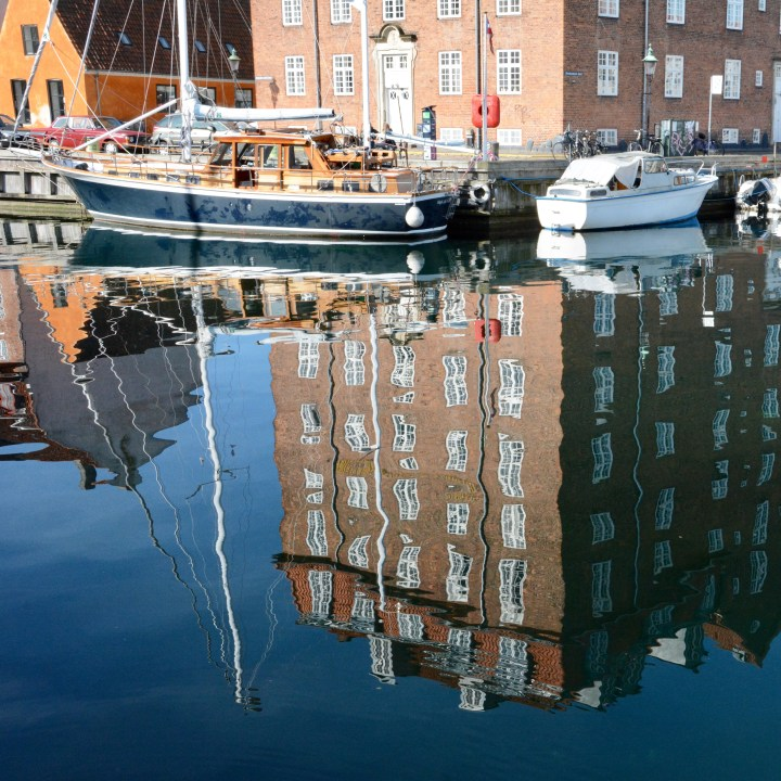 travel with kids children copenhagen denmark christianshavn canal refelctions