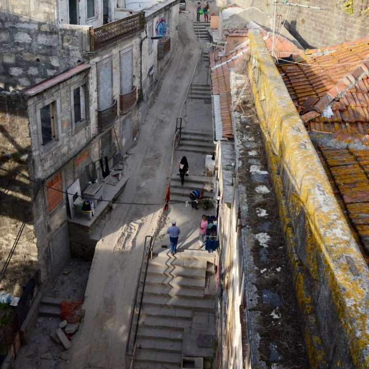 travel with kids children porto portugal stairs