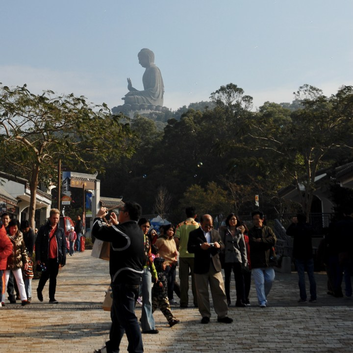 travel with kids children hong kong lantau big buddha cable car gong village