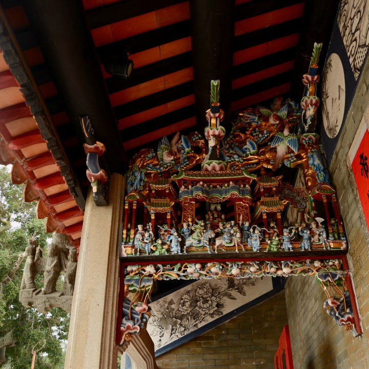travel with kids children cheung chau island hong kong pak tai temple decorations