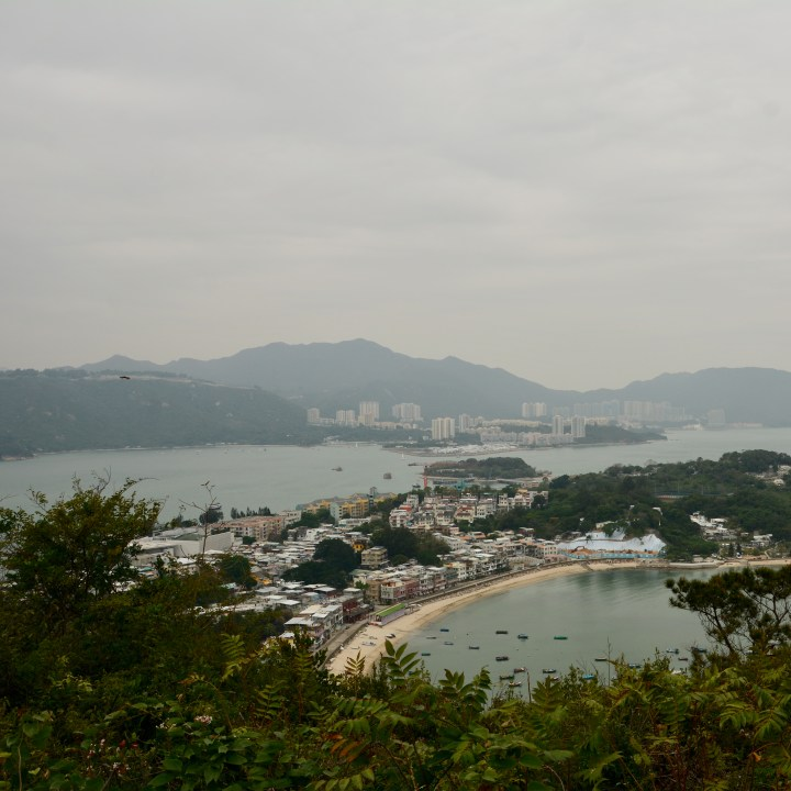 travel with kids children peng chau hong kong hiking trail finger hill view