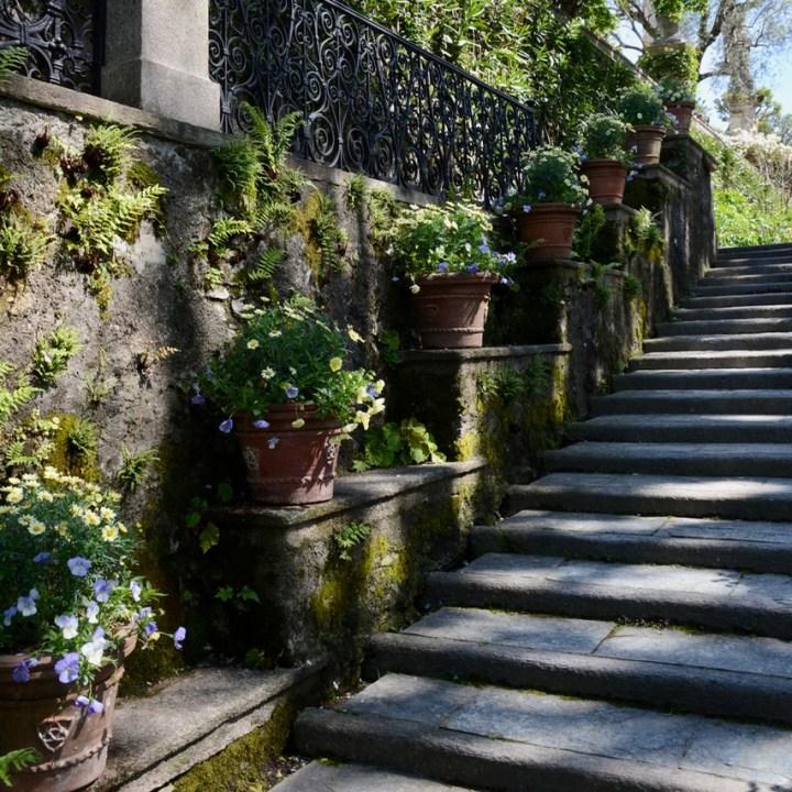 travel with kids children isola bella lago maggiore italy palazzo borromeo garden stairs