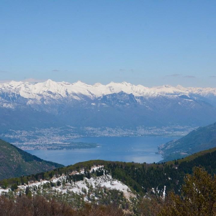 travel with kids children mount spalavera lago maggiore hiking snowy mountains