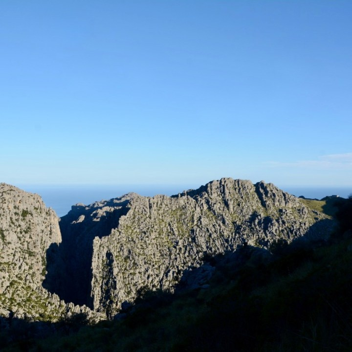 travel with kids children soller mallorca spain hiking torrent de pareis view