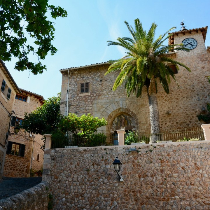 travel with kids children soller mallorca spain hiking fornalutx church