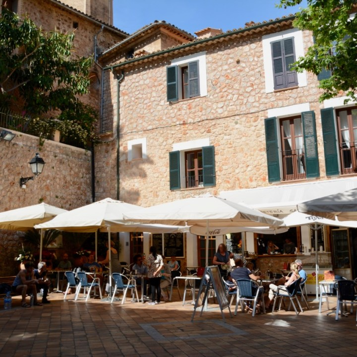 travel with kids children soller mallorca spain hiking fornalutx cafe sa placa