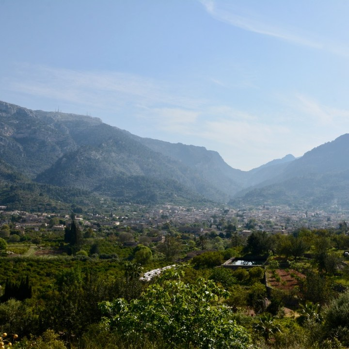 travel with kids children soller mallorca spain hiking fornalutx view over soller