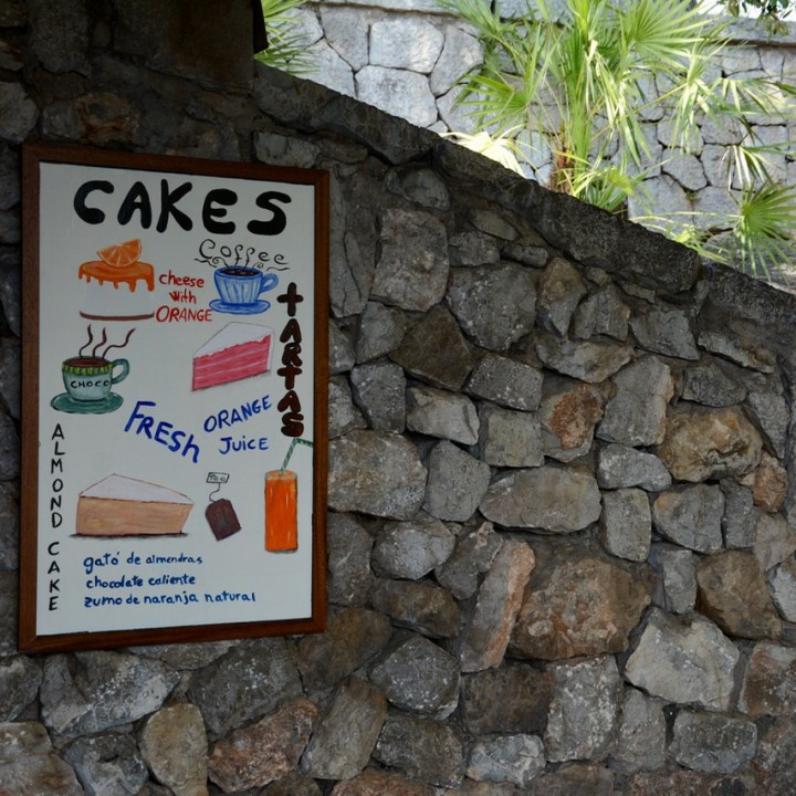 travel with kids children soller mallorca spain mirador ses barques restaurant cake time