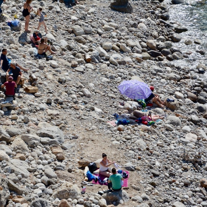 travel with kids children soller mallorca spain coastal hike ben's d'avall to deia stony beach