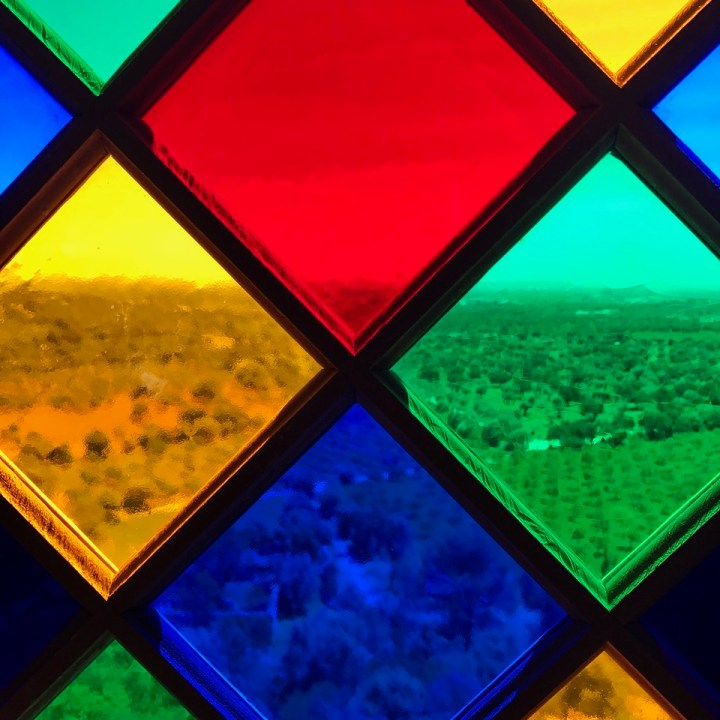 travel with kids children mallorca spain raixa estate colourful windows