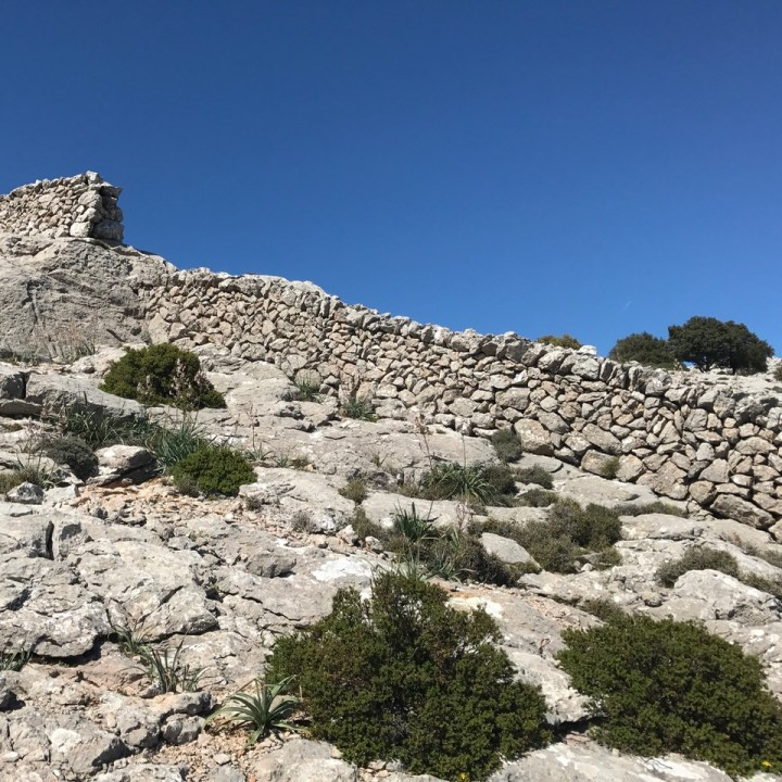 travel with kids children soller mallorca spain three mountain tops hike lofre wall