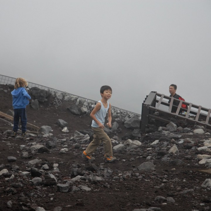 travel with kids hiking mount fuji japan