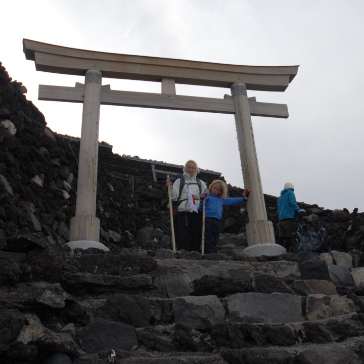 travel with kids hiking mount fuji japan we made it