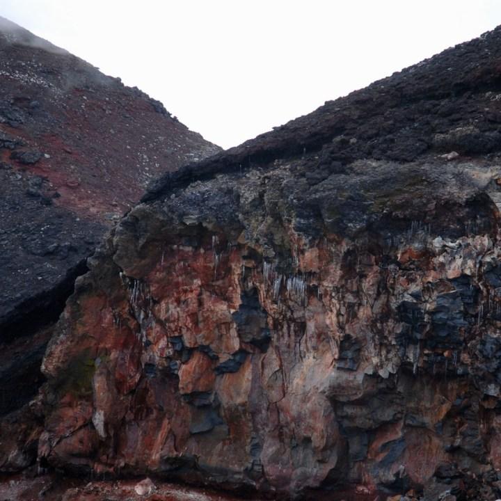 travel with kids hiking mount fuji japan rocks