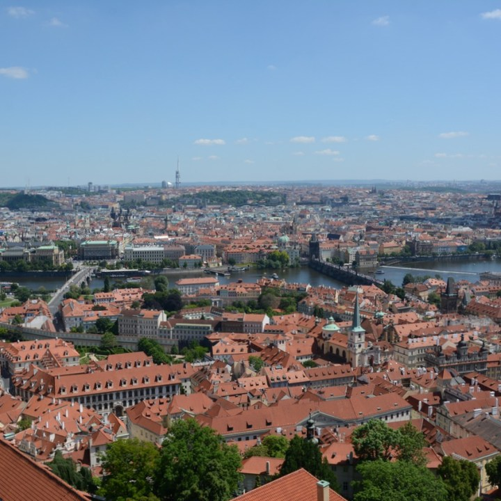 travel with kids prague cathedral tower view