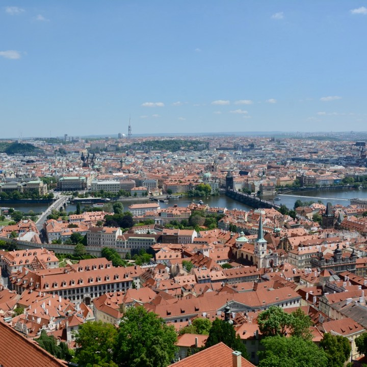 prague with kids guide cathedral tower city view
