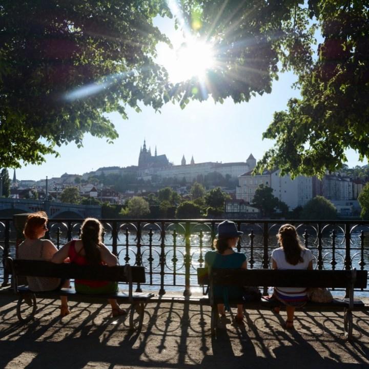 travel with kids prague charles bridge