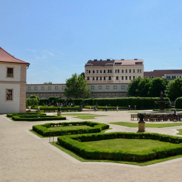 travel with kids prague wallenstein palace garden