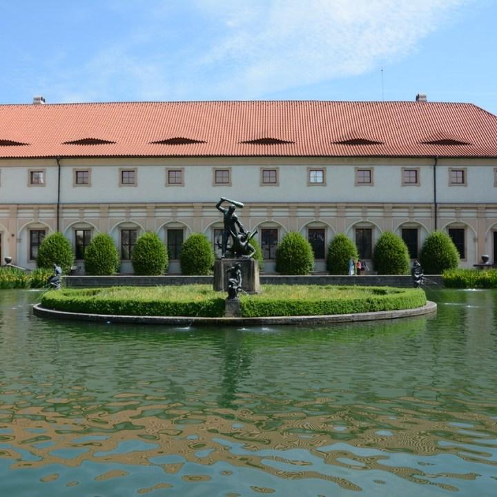travel with kids prague wallenstein palace pond