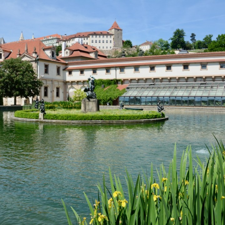 travel with kids prague wallenstein palace pond