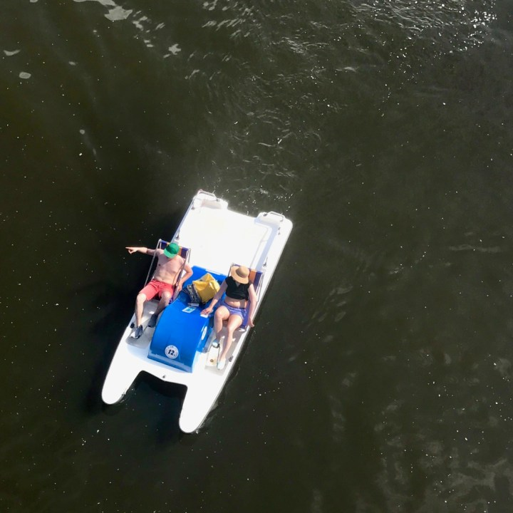 prague with kids pedal boat ride