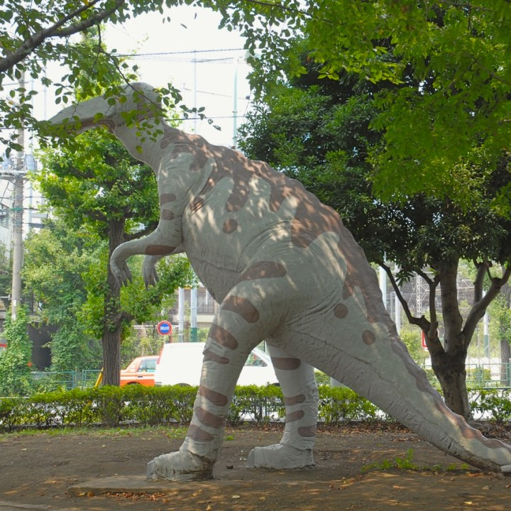 tokyo japan with kids cycling haneda dinosaur playground