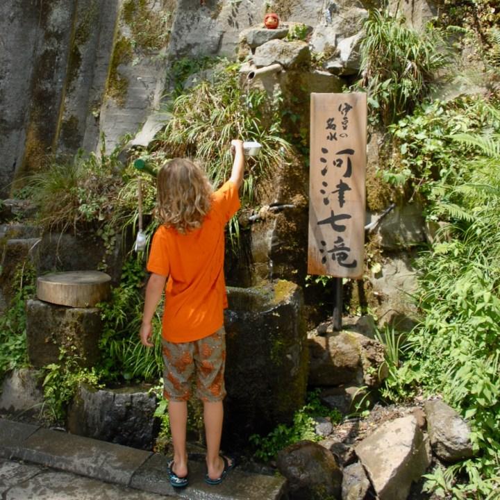shimoda japan with kids kawazu seven waterfall well