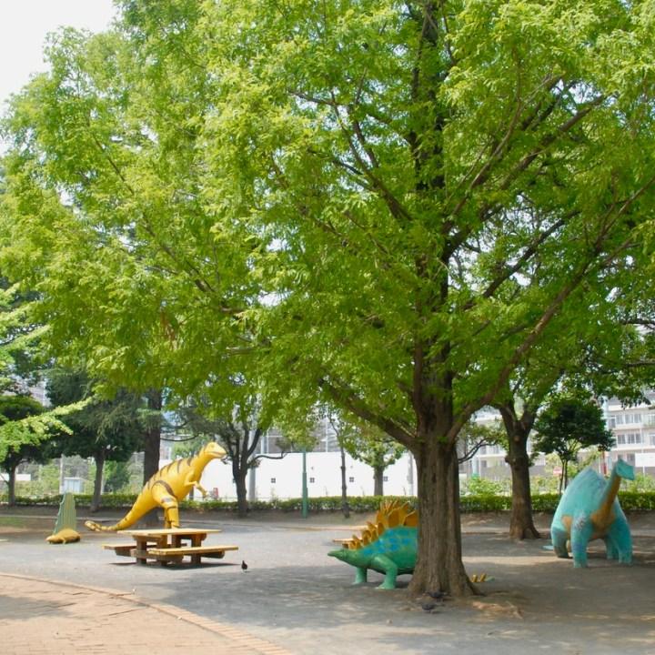 tokyo japan with kids cycling haneda dinosaur playground