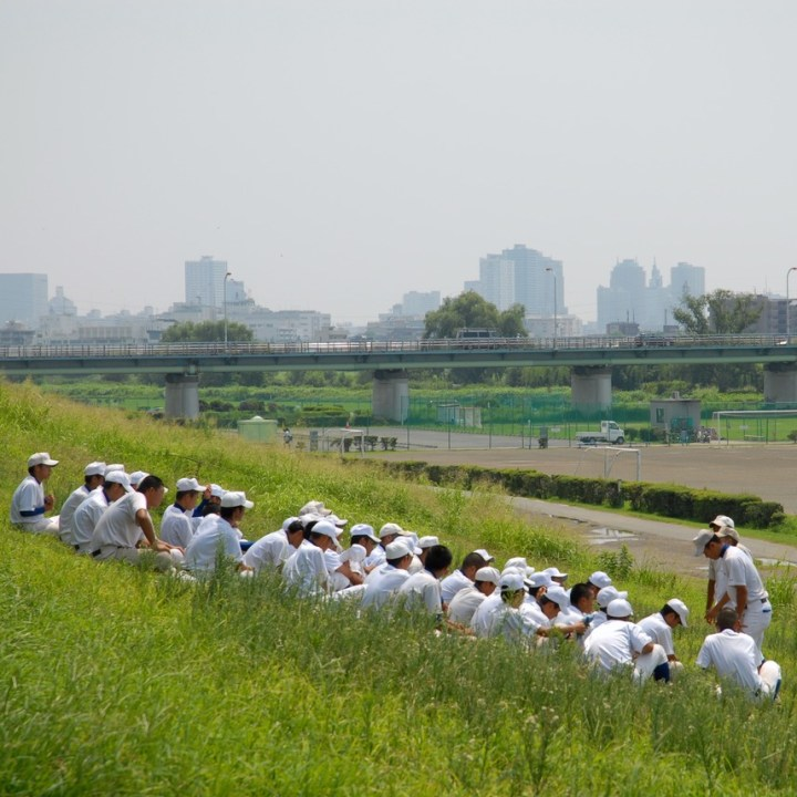 cycling the tame river tokyo japan with kids school