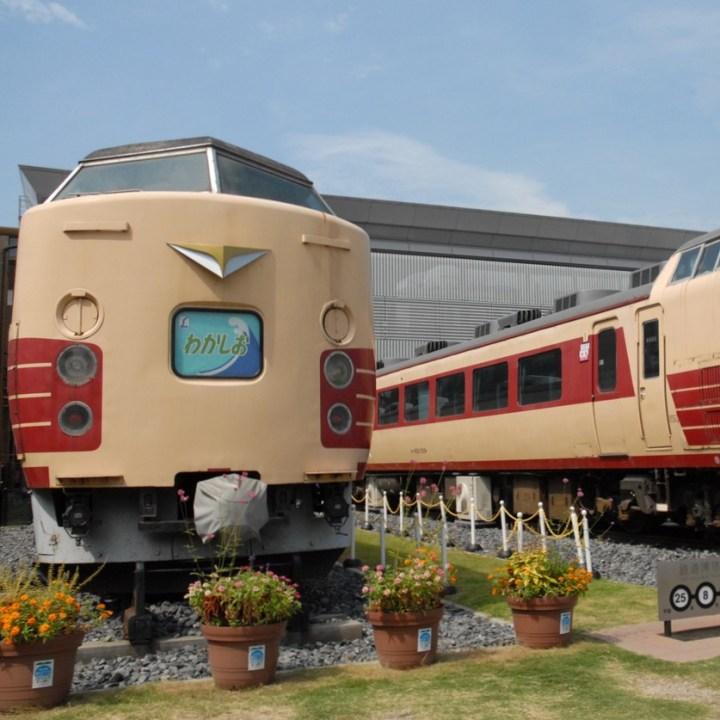 tokyo train museum with kids shinkansen lunch car