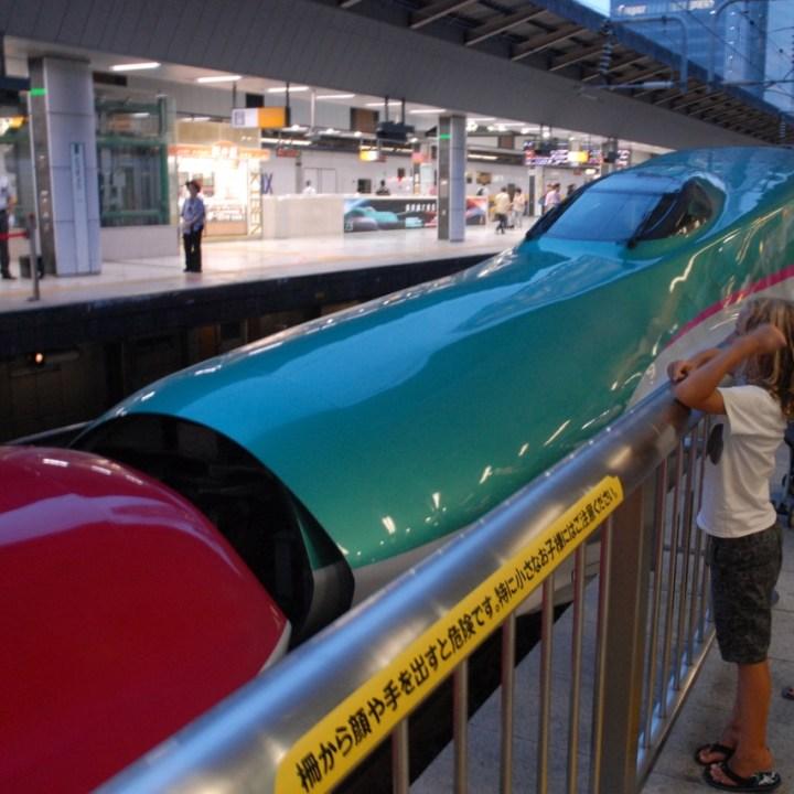 tokyo train museum with kids shinkansen dock