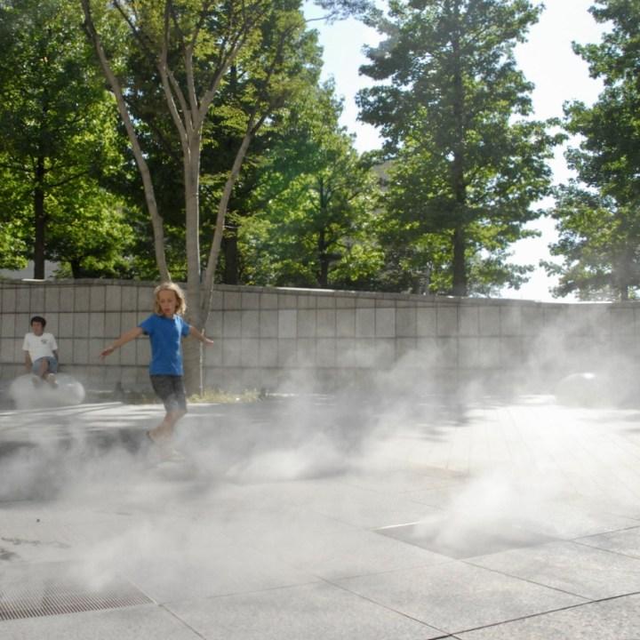 yokohama with kids pedestrian area mist