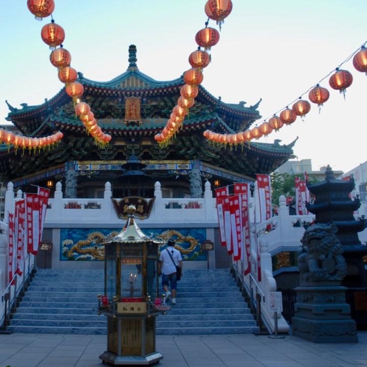 yokohama with kids china town temple